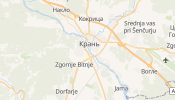 Крань - детальная карта