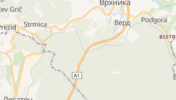 Врхника - детальная карта
