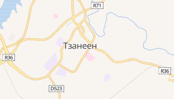 Тзанеен - детальная карта