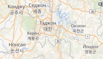 Тэджон - детальная карта