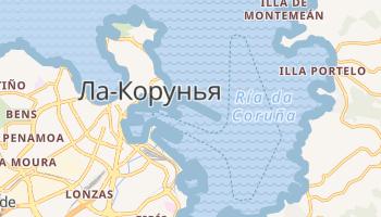Ла-Корунья - детальная карта