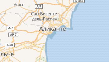 Аликанте - детальная карта