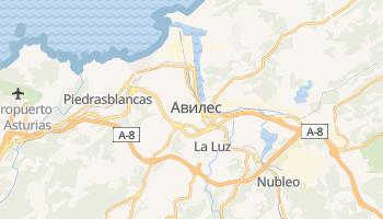 Авилес - детальная карта