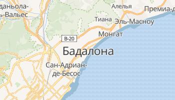 Бадалона - детальная карта