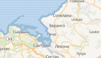 Гечо - детальная карта
