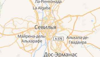 Севилья - детальная карта