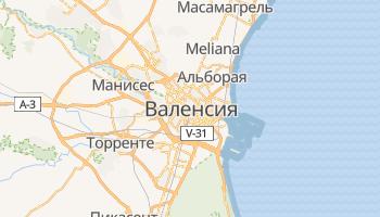 Валенсия - детальная карта