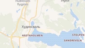 Худиксвалль - детальная карта