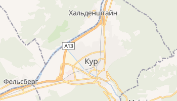 Кур - детальная карта