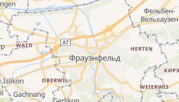Фрауэнфельд - детальная карта
