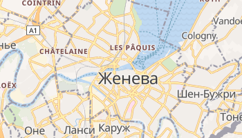 Женева - детальная карта