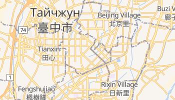 Тайчжун - детальная карта