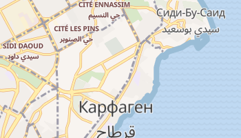 Карфаген - детальная карта