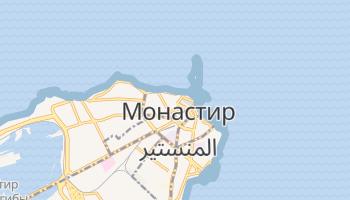 Монастир - детальная карта
