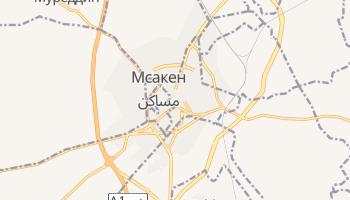 Мсакен - детальная карта