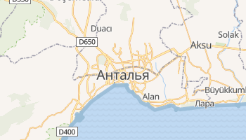 Анталья - детальная карта