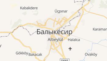 Балыкесир - детальная карта