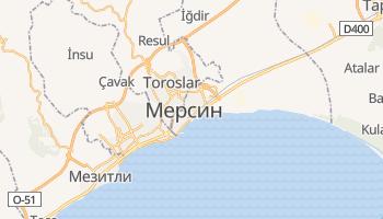 Мерсин - детальная карта