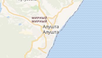 Алушта - детальная карта