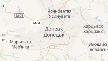 Донецк - детальная карта