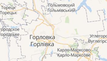 Горловка - детальная карта