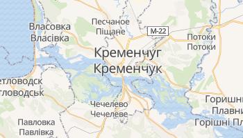 Кременчуг - детальная карта
