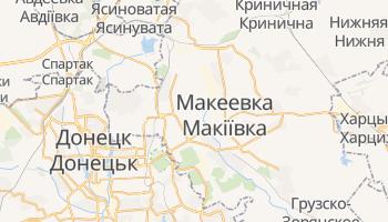 Макеевка - детальная карта