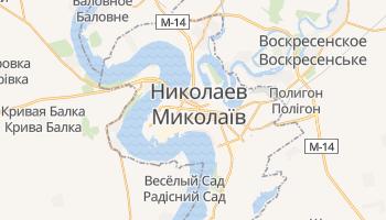Николаев - детальная карта