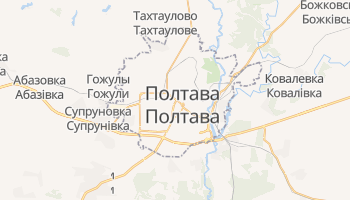 Полтава - детальная карта