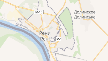 Рени - детальная карта
