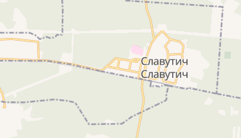 Славутич - детальная карта