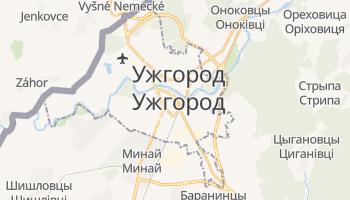 Ужгород - детальная карта