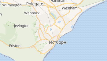 Истборн - детальная карта