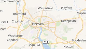 Ипсуич - детальная карта