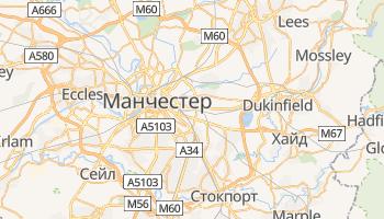 Манчестер - детальная карта