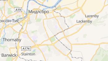 Мидлсбро - детальная карта