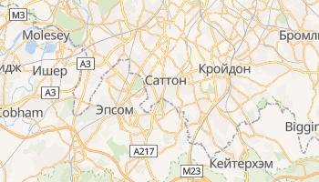 Саттон - детальная карта