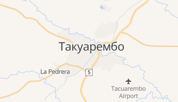 Такуарембо - детальная карта