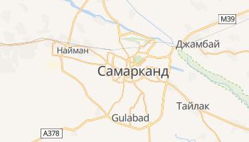Самарканд - детальная карта