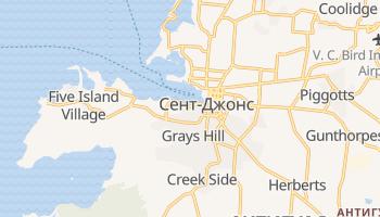 Сент-Джонс (Антігуа) - детальна мапа