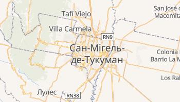 Сан-Мігель-де-Тукуман - детальна мапа