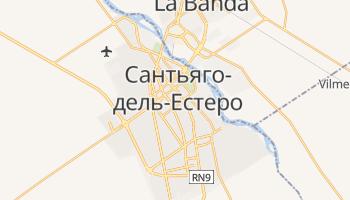 Сантьяго-дель-Естеро - детальна мапа
