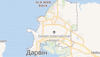 Дарвин - детальна мапа