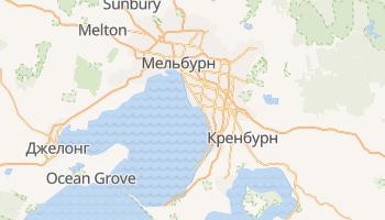 Мельбурн - детальна мапа