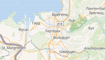 Брегенц - детальна мапа