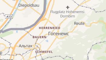 Гогенемс - детальна мапа
