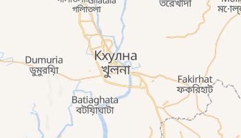 Кхулна - детальна мапа