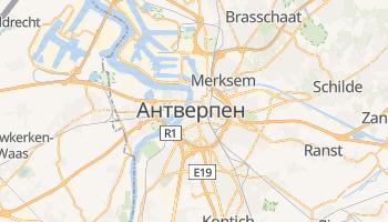 Антверпен - детальна мапа