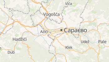 Сараєво - детальна мапа