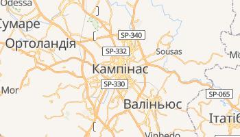 Кампінас - детальна мапа